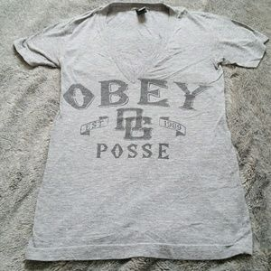 Small OBEY v-neck